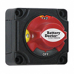 Dial Battery Disconnect  Switch, 24 V