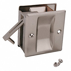 Pocket Door Passage Lock- Satin Nickel