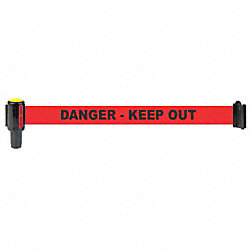 R, Poly Fabric, Danger Keep Out, Banner, 5pk