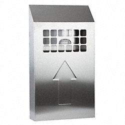 Bin Smoking Station, SS, 17 In. H