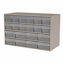 Cabinet, Stackable, 20 Clear Bin Drawers