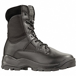 Tactical Boots, Pln, Mens, 11-1/2W, Blk, 1PR