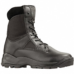 Tactical Boots, Pln, Mens, 10-1/2W, Blk, 1PR