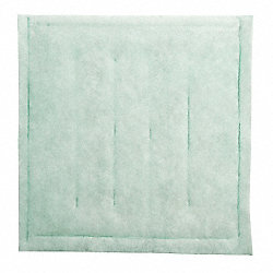 Paint Collector Filter Pad, 1 In. D, PK 20
