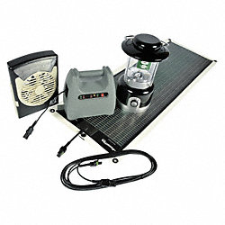 Solar Charger Kit, 15.4 V, Blk, 23 X 14 1/2