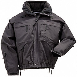 5 in 1 Jacket, Black, 2XL