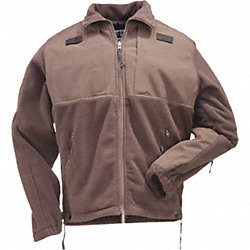 Tactical Fleece Jacket, Dark Brown, 2XL