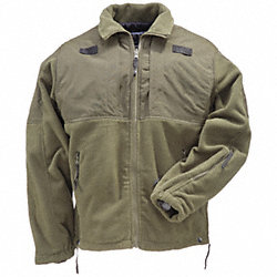 Tactical Fleece Jacket, Sheriff Green, XL