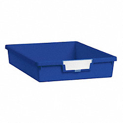 Storage Tray, Single, Length 12-1/4, Blue
