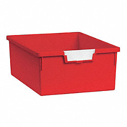 Storage Tray, Double, Length 12-1/4, Red