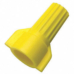 Wire Connector, Wingtwist, Yellow, PK 100