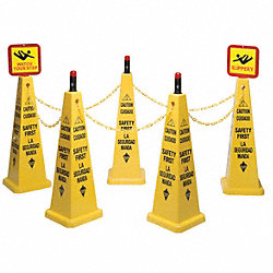 TRFC Cone Kit, Safety First, Yellow