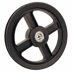 V-Belt Pulley, 5.75 In OD, 5/8 Bore, 1GRV