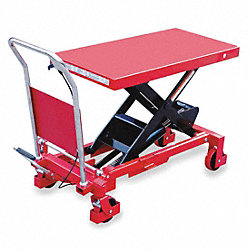 Scissor Lift Cart, 2000 lb., Steel, Fixed
