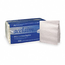 Luncheon Napkin, Acclaim, White, PK6000