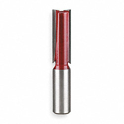 Straight Router Bit, 1/2 Dia In, 1 Cut D
