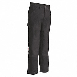 Carpenter  Work Pants, Black, Size38x34 In