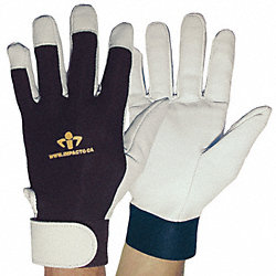 Anti-Vibration Gloves, S, Black/White, PR
