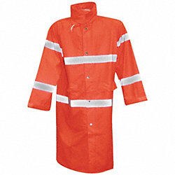 Rain Coat, Fluorescent Orange, XL