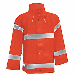 Rain Jacket, Fluorescent Orange, M
