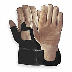 Mechanics Gloves, Tan/Black, L, PR