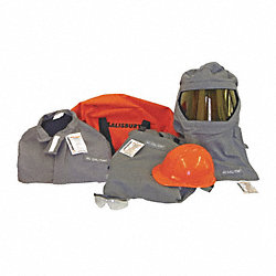 FlameResist Coat/Overall Kit, Gry, XL, HRC4