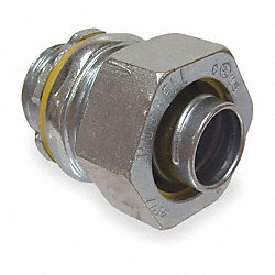 Straight Connector, 1.5 In, Non Insulated