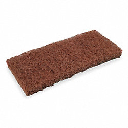 Heavy Duty Pad, Brown, 10L x 4In. W, PK 5