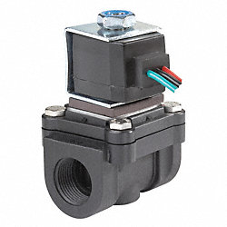 Solenoid Valve, 2 Way, NC, 1/8 In Pipe