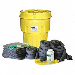 Spill Kit, Can, 62 gal., Oil Only