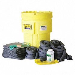 Spill Kit, Can, 62 gal., HazMat
