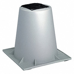 Heat Pump Riser, 6 In., Gray