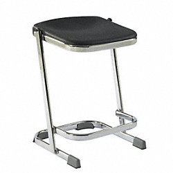 Square Stool, Black, 22