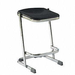 Square Stool, Black, 24