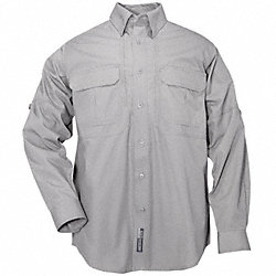 Woven Tactical Shirt, Gray, 2XL