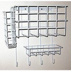 Wall Mount Wire Rack, 10-1/2 In. L