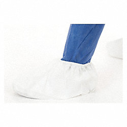 Shoe Covers, L, White, PK400