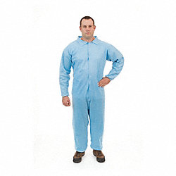 Disposable Coverall, Blue, 2XL, PK25
