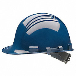 Hard Hat w/Rain Trough, Slottd, 4Rcht, Navy