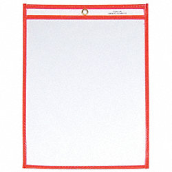 Shop Ticket Holder, 9x12, Neon Orange, PK15