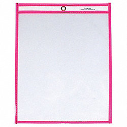 Shop Ticket Holder, 9x12, Neon Pink, PK15