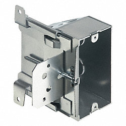 Outlet Box, Adjustable, 1 Gang, Silver