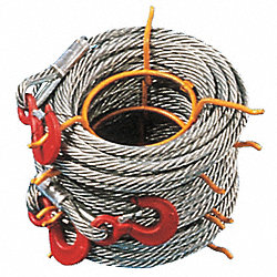 Winch Cable, Alloy Stl, 7/16 In. x 100 ft.