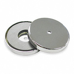 Round Base Ring Magnet, 1.425 In Dia