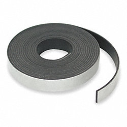 Flexible Magnetic Strip, 24 lb./ft., 10ft.