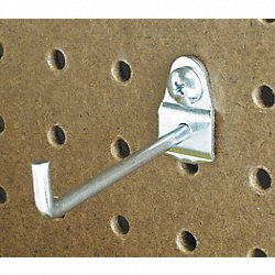 Single Rod Pegboard Hook, Pk10