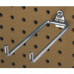 Double Rod Pegboard Hook, Pk5