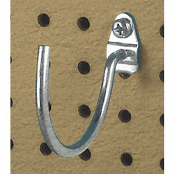 Curved Pegboard Hook, PK 3