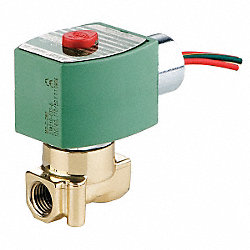 Solenoid Valve, Cryogenic, 2 Way, NC, 1/4In