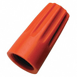 Wire Connector, 73B, Orange, PK 100